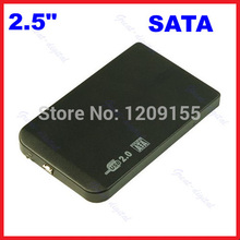 "New Slim 2.5"" SATA HDD USB 2.0 External Box Hard Disk Driver Enclosure Case(China)"