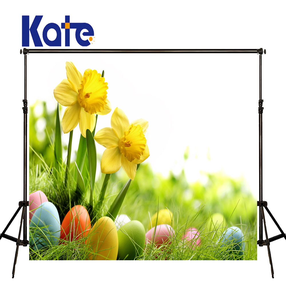 Easter Photography Backdrops Egg Meadow Flowers Background Easter Day Zj<br>