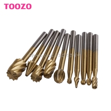 10Pcs Engraving Cutter Woodworking Tools Grinding Electric Rotary File Head Bit #G205M# Best Quality