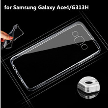 For Samsung Galaxy Ace 4 Neo G318H SM-G318H Ace4 Lite G313 G313H SM-G313H Clear Soft TPU Gel Crystal Transparent Cover Skin
