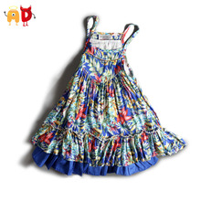 AD 2-6Y Floral Baby Girls Dress Well-design Girls Sundress Kids Children's Clothing Clothes Bohemian Style Dressed Infantis
