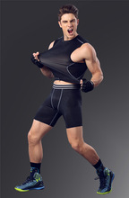 Running Shorts Men Quick Dry Base Layer Cycle Tight Skin Compression Sweat Men's Sport Shorts Elastic Waist Shorts