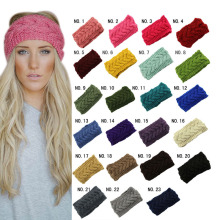 Knitted Turban Headbands Winter Warm Crochet Head Wrap Wide Ear Warmer Hairband Hair Accessories For Women  88 -MX8