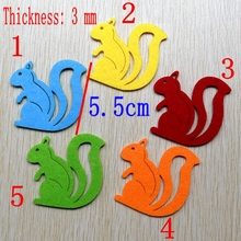 50pcs squirrel Non-woven Felt Fabric polyester sleeve cloth Kids DIY Wedding Craft 3mm Thick Mixed Color Home Decoration 411