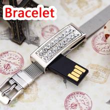 Jewelry Usb Flash Drive 8gb 16gb 32gb Pen Drive 64gb Bracelet Pendrive 32gb Crystal Gift Hard Disk Gadget Usb Memeory Gift Gifts