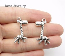 30pcs(29*15mm) Antique Silver giraffe Charm European pendant fit for pandora style Bracelets Necklace DIY Metal Jewelry Making