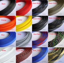 "16MM 5/8"" TIGHT Braided PET Expandable Sleeving Cable Wire Sheath Black/Red/Orange/Yellow/Green/Blue/Purple/Gray/White/Clear(China)"