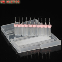 Hot Sale 10Pcs/Set Mini PCB Carbide Tools End Mill 1.5mm Diameter CNC Engraving Cutter Cutting Bits Milling Cutters Kit