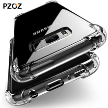 Pzoz for samsung galaxy s8 case silicone luxury shockproof for galaxy s8 plus Cover original Clear Protective armor s8 phone TPU