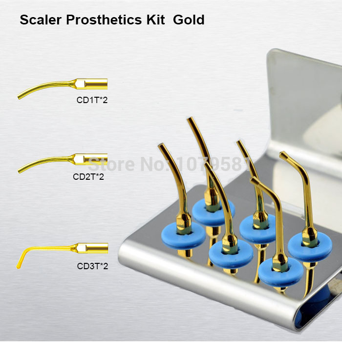 1 set SPRKG Scaler Prosthetics Kit Gold  High quality CD1T CD2T CD3T dental laboratory equipment for dental satelec kit dental<br>
