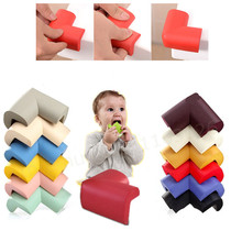 8Pcs/lot Soft Baby Safe Corner Protector Baby Kids Table Desk Corner Guard Children Safety Edge Guards bumper doors tuning(China)