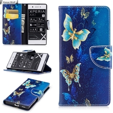 Butterfly Flip Case for Sony Xperia XA1 Dual G3125 G3121 G3123 G3112 G3116 Case Phone Cover for Sony Xperia XA 1 Hinoki G 3125(China)