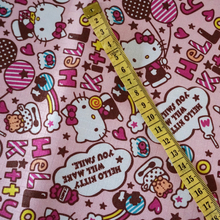 145cm*50cm Pink Hello Kitty PVC Nylon Waterproof Sewing Patchwork Fabrics Handmade Sewing Cloth Home Textile Kitty Water proof