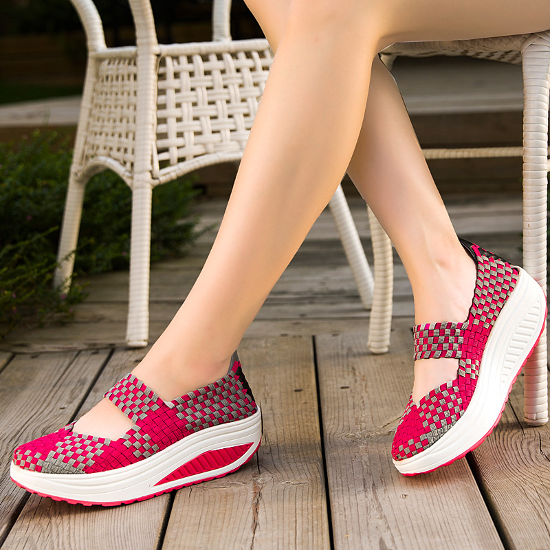 2017 Summer Hand-made Womens Shoes Flats Sports Casual Wedges Sandals Flat platform Chaussure Femme Shoes Women Zapatos Mujer <br><br>Aliexpress