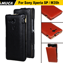 For Sony Xperia SP M35h Case Flip Leather Case Back Cover For Sony Xperia C5503 C5502 Phone Cases iMUCA For Sony Xperia SP Case(China)