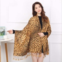 New Leopard Print Women's Autumn Winter Scarves tassel Casual Large Scarf For Females bandana Shawls poncho feminino inverno