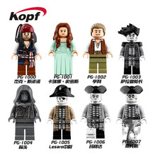Super Heroes Pirates of the Caribbean Dead Men Tell No Tales Lesaro Lieutenant Salazar Building Blocks Children Gift Toys PG8048