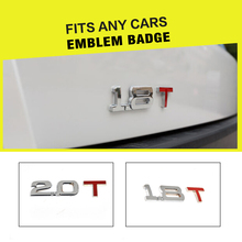 Alloy Car Sticker Emblem Badge 2.0 T / 1.8 T Emblem Badges Fit Any Cars For VW Golf 4 Golf 5 For BMW For Audi For Benz(China)