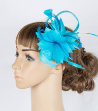 17 colors high quality sinamay material fascinator headpiece wedding hat derby race hair accessories suit for all season MYQ067(China)