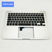 "New For Macbook Pro Retina 13"" A1502 TopCase Palmrest Top Case Keyboard Replacement Spanish Layout 2015 2016 Years"
