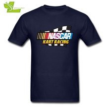 Nascar Kart Racing Logo T Shirt Adult Latest Unique Tshirts Leisure Loose Nascar T-Shirts American F1 Men Summer O Neck Dad Top