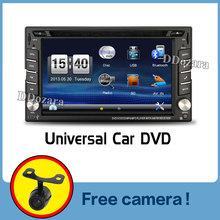 "2016 New 6.2"" Touch Screen car dvd player gps navigation USB SD Bluetooth FM 2din in dash TFT support rear view camera input"