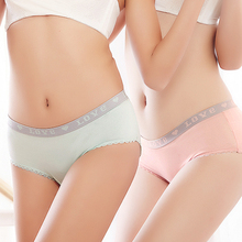 Sexy Women's Panties 95% Cotton Lovely Girl Briefs Plus SizeXXL Underwear 7Color Seamless Sexy Panties for Women Wholesale(China)