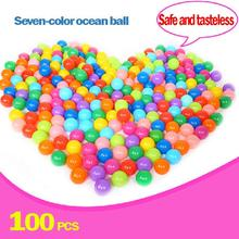 Baby Playpen Pool Balls 100pc Wholesale Ball Pit Balls Colored Plastic Balls Fencing For Children Daby Fence(China)