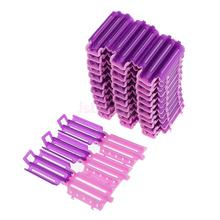 36pcs Hair Curler Clips Clamps Roots Perm Rods Styling Wavy Rollers for Corn Fluffy DIY Tools No Heat(China)