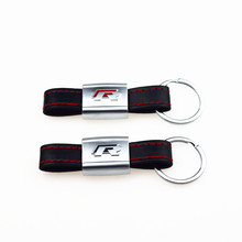 Buy Car Key Ring Holder Keyrings Leather stainless steel Keychain R Line Rline Volkswagen VW Golf Jetta POLO Passat Tiguan for $2.40 in AliExpress store