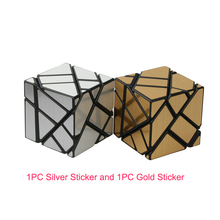 Niinja 3*3*3 Ghost Magic Cube Speed Cubes Puzzle Toys, Additional Both One Set Gold and Silver Stickers!