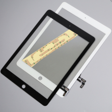 Tested Well For Apple iPad Air1  iPad 5 Gen 10pcs/lot Wholesale Touch Screen Digitizer & Adhesive +home flexcable completed