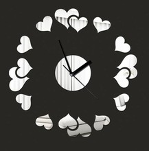 030115 Group of heart creative home decorative fashion wall clock swap space(China)