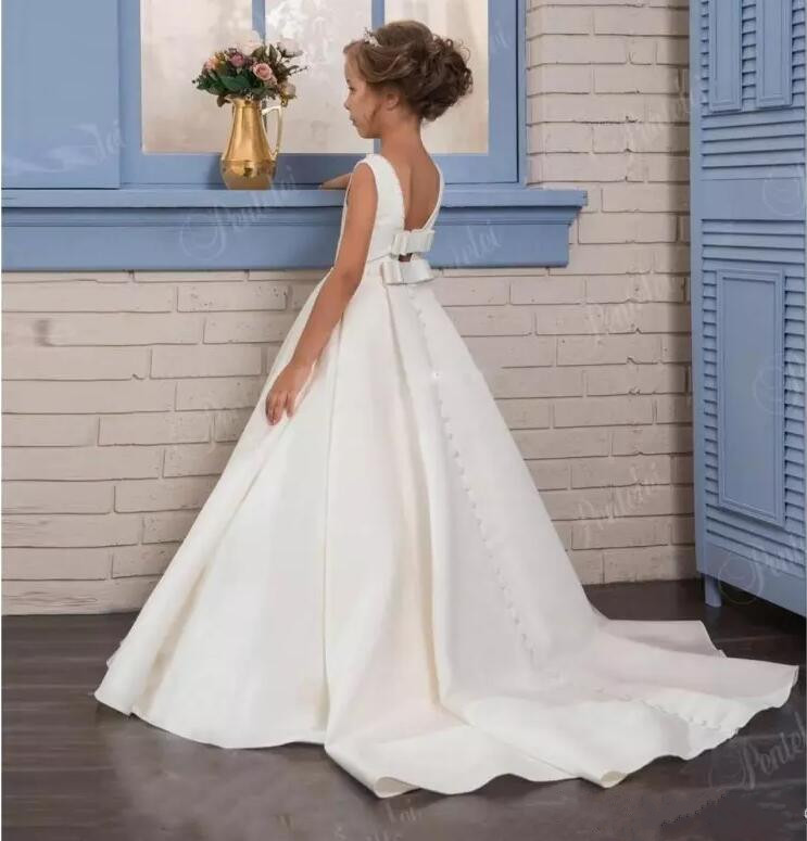 White-Ivory-Princess-Gown-Flower-Girl-Dresses-2018-Backless-Kids-Formal-Wear-First-Communion-Gown-Custom
