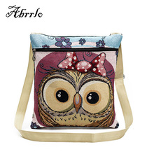 Cute Owl Printing Women Messenger Bags Crossbody Shoulder Bags Summer Female Casual Designer Beach Bag High Quality WAITMOON