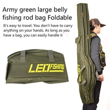 Large Capacity Foldable 420D Oxford Cloth Fishing Bags Multi-purpose Tactical Fishing Rod Bag Case Storage Bag Free Shipping