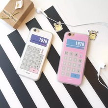 Super Cute Retro Calculator 3D Relief Painted Pattern Matte Plastic Case Cover For Iphone 6Plus 5.5inch