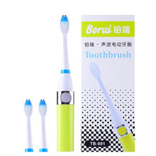 1 Piece Sonic Toothbrush + 2 PCS Brush Head With Protective Cover Kid Soft Travel Oral Clean Battery Electronic Toothbrush