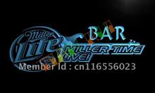 LA409- Miller Time Live Bar Beer LED Neon Light Sign