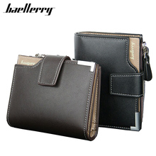 Brand Wallet Men Leather Hasp Solid Short Men's Wallets Zipper Coin Money Pocket Bag Small Male Purse Clutch Card Holder