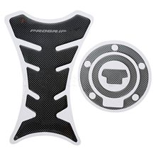 New Motorcycle Decorate Sticker Fuel Tank Pad Decals + Gas Cap Pad Cover Sticker for Yamaha YZF R1 R6 FZ-1 FJR1300 Carbon Fiber