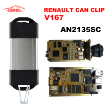 2017 Newest V167 Renault Can Clip Full Chip CYPRESS AN2131QC OBDII Auto Diagnostic Interface CAN Clip For Renault Code Scanner