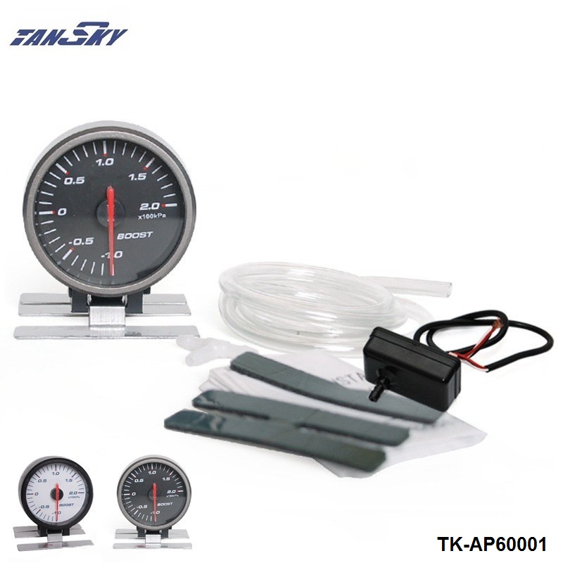 TANSKY - AP 60MM BOOST GAUGE ELECTTRO-LUMINESCENT / Auto Boost Gauge/ Boost meter For FORD MUSTANG GT/SVT V8 TK-AP60001