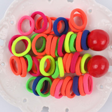 2017 NEW Fashion color Nylon Hair rubber bands elastic hair rope hair accessories for girls kids 100Pcs/LOT WHITE BLACK MIX 20mm(China)