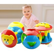 2017 Baby Infant Kids Ball Toddlers Fun Multicolor Activity Educational Toys Best Early Educational Toys(China)