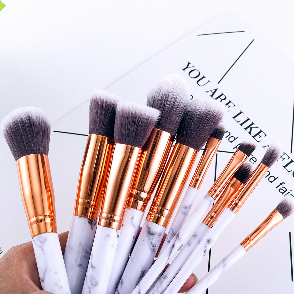 Marble makeup brushes  (6)