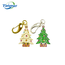 Wholesale Promotion New Fashion Christmas tree Crystal USB Genuine 4GB 8GB USB 2.0 Memory Flash Stick Pen Drive