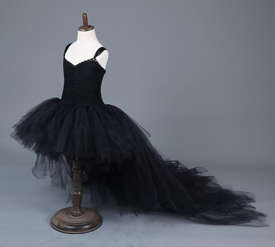 2017 Tail Halloween Children Dress Girl In Black Dress for 12 Years Old Childrens Princess Dress Children Holiday TUTU Dresses<br>