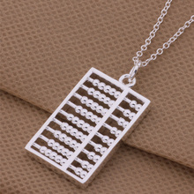 Unique Design Silver Jewelry Exquisite Abacus Pendant Necklace For Women Men AN254