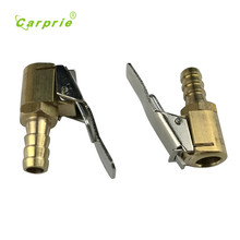 Auto 2PC Inflator Valve Connector Brass Tire Valve Air Pump  8mm Auto Car Truck Tire Dec13